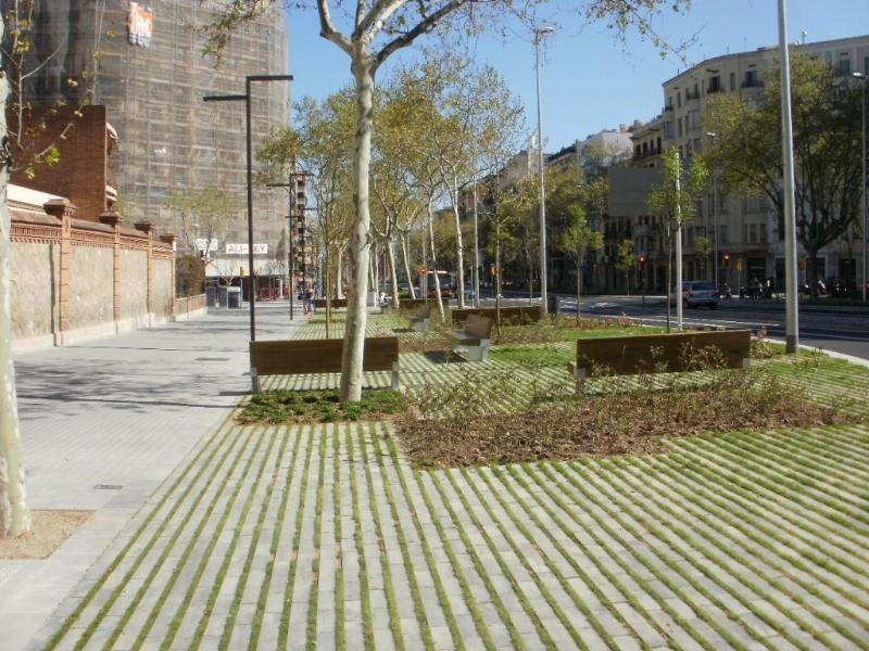 Acera permeable. Barcelona (III)